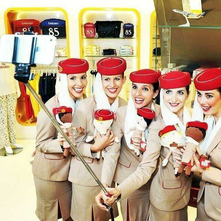 Стюардессы авиакомпании Emirate Airline