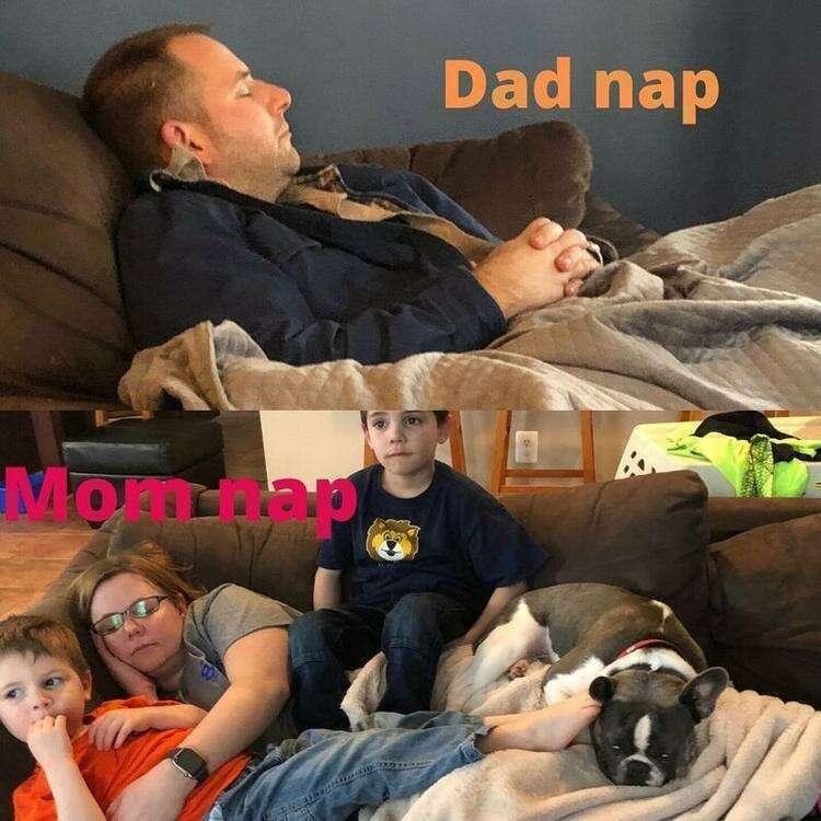Отдых усталых родителей