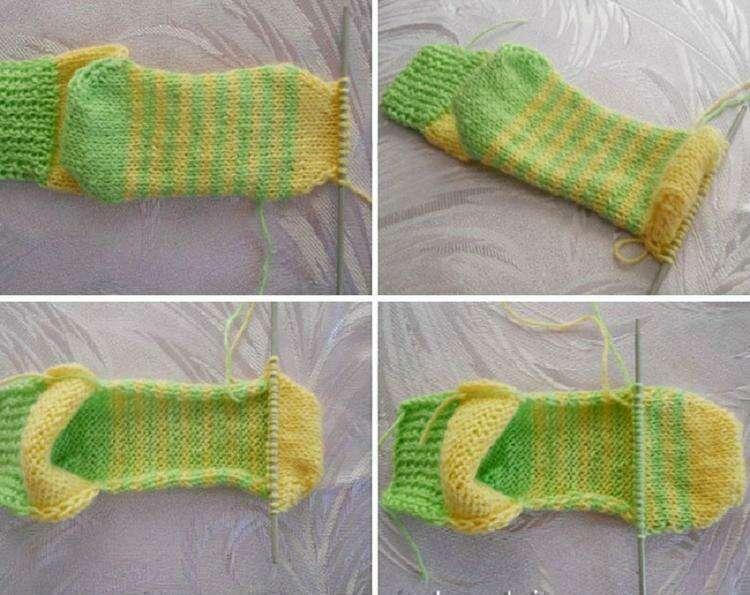 Простая вязка носков