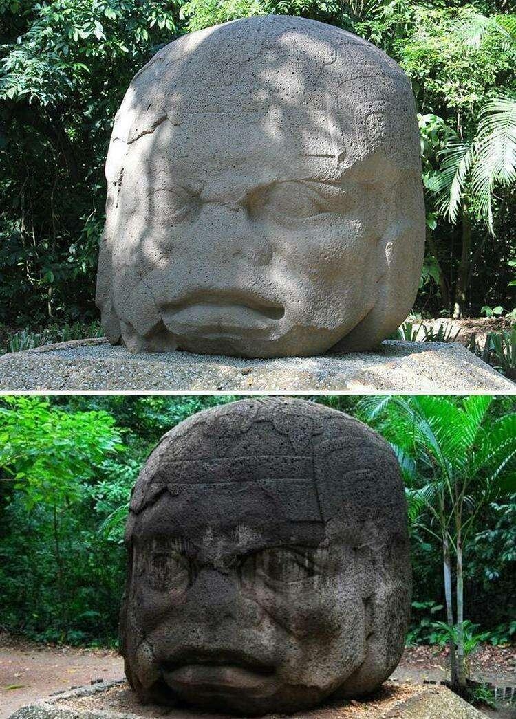Туристы повредили ольмекские скульптуры