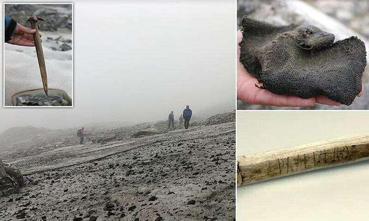 Тающие ледники в горах Норвегии обнажили древние артефакты
