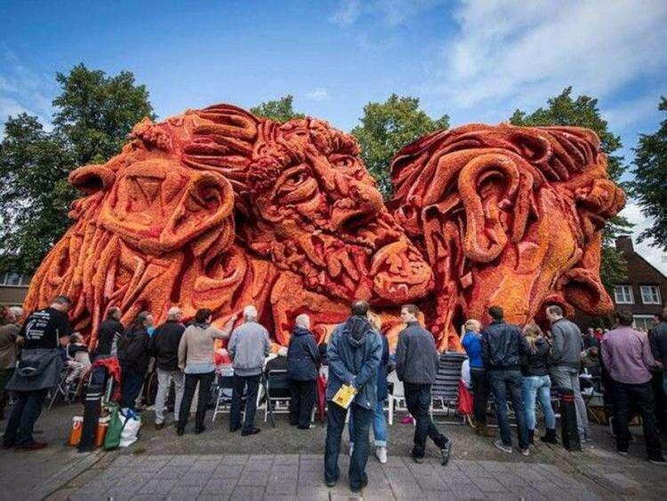 14 цветочных скульптур с крупнейшего в мире Парада Цветов в Голландии, посвященного Ван Гогу