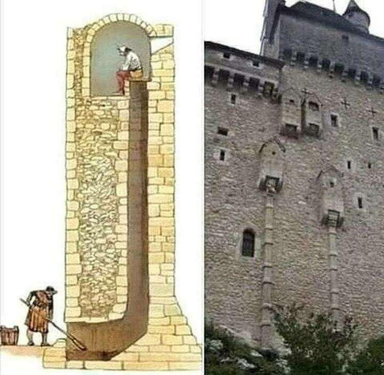 Именно так были устроены туалеты в средневековье