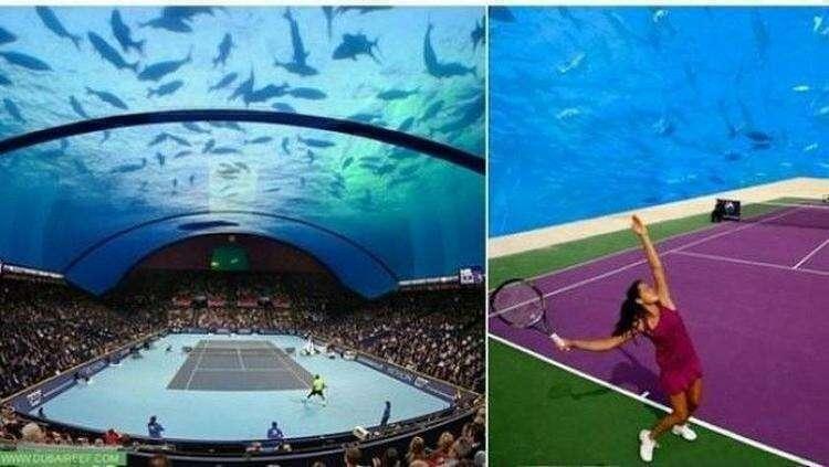 Первый в мире теннисный корт под водой