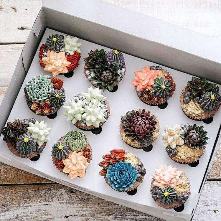 Оригинальные сладости которые можно принять за живые суккуленты
