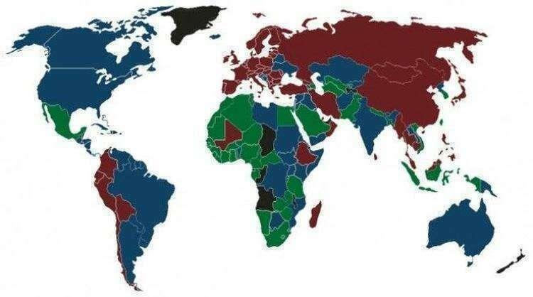 В мире всего 4 цвета для паспортов, но почему?